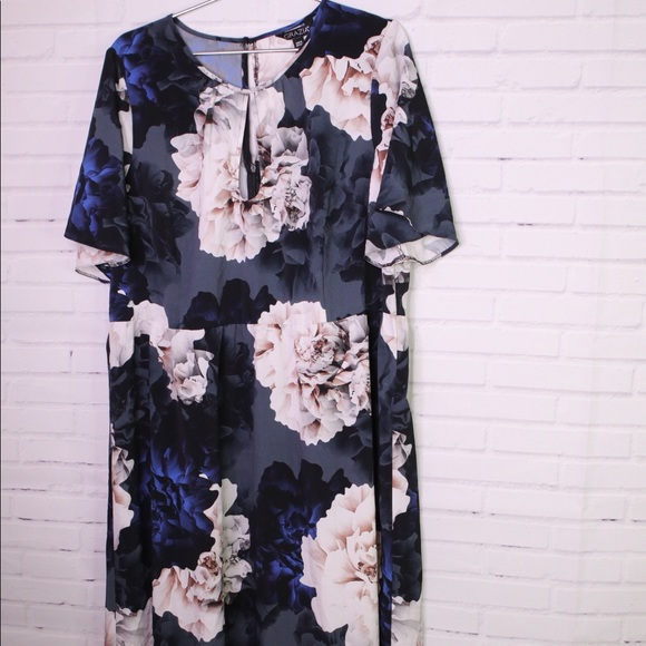Grazia Dresses & Skirts - Grazia Peony Floral Keyhole Dress Plus Size 16 NEW